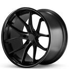 4ea 22x95 Ferrada Wheels FR2 Matte Black with Gloss Black Lip RimsS2