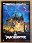 DRAGONSLAYER rare vintage German 1 sheet poster 1982 great artwork