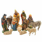 Marolin NATIVITY SET OF 12 Paper Mache Germany Mary Joseph Kings 151160