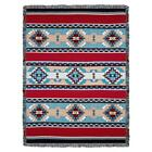 Rimrock Red Turquoise Southwestern Native Inspired Tapestry Afghan Throw