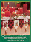 Christmas Table and Mantel Linens Cross Stitch Magazine Pattern - Home Decor