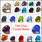 Teardrop Faceted Crystal Rhinestone Glass Loose Spacer Beads 7x5mm 12x8mm U Pick