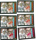 6 Card CT PLayer Lot All 1985 Topps Joe Montana Dan Marino 192