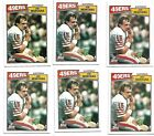 6 Card CT Player Lot all 1987 Topps Joe MOntana 112