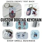 Personalized Custom Full Color Photo Dog Tag Pendant Keychain Included