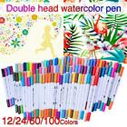12 24 60 100 Colors Art Markers Dual Tip Art Markers Twin Sketch Markers Pens Ba