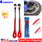 Tire Spoon Lever Iron Tool Kit For Motorcycle Bike With Wheel Rim Protectors USA