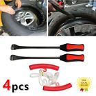 4Pcs Red Tire Change Tool Kit With Spoon Lever Rim Protector For Motorcycle