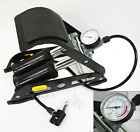 Dual Cylinder Foot Pump Portable Floor Bike Pump Accurate Pressure Gauge 150PSI