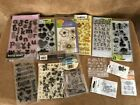Clear Stamps rubber stamping scrapbook crafts lot fiskers hero arts flower