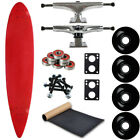 Moose Longboard Complete 9 x 43 Pintail Red