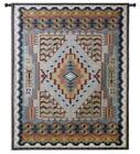 53x41 SOUTHWEST TURQUOISE Geometric Native American Tapestry Wall Hanging