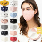 Quality Reusable Adult Cotton Fashion Face Mask Filter Pocket Nose Wire Pretty