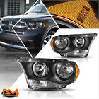 For 11-13 Dodge Durango Direct Replacement Headlightlamps Amber Corner Black