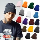 Flexfit Heavyweight Long Basic Flap Beanie Winter Hat Knit Ski Slouch Knitted