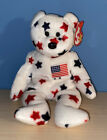 Ty Beanie Babie Glory The Bear DOB July 4th 1997 New With Tages Ages 3+
