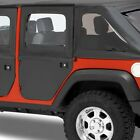 Bestop Rear Fabric 2 Piece Doors For JEEP JK WRANGLER 4 DOOR 07 18Blk Diamond