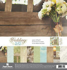 Paper House WEDDING DAY Scrapbooking Kit 10 12x12 Papers + 2 Sticker Sheets
