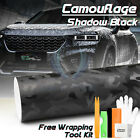 3d Shadow Black Camo Camouflage Car Vinyl Wrap Decal Sticker Skin Air Release