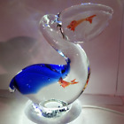 Pelican With Fish Glass Art Figurine by Dynasty Gallery