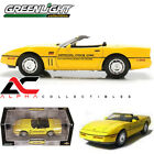 GREENLIGHT 11801 06 118 1986 CHEVROLET CORVETTE INDY 500 PACE CAR YELLOW