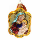 Christopher Radko MOTHER AND CHILD Glass Christmas Ornament Mary Jesus 1018561