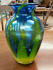 Blenko Glass Fire and Ice Vase