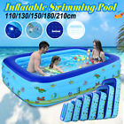 Inflatable Swimming Pool Adults Kids Family Pool Bathing Tub Outdoor Indoor Set