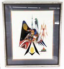 Native American Woman Mixed Media Artwork by Larry Hood Comanche Tribe Framed