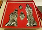 1999 Lenox Millennium Nativity Christmas Lead Crystal Gift Set Made In Germany