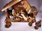 Vintage Christmas Nativity Manger Set 12 Figurines Made In Italy