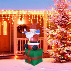 55ft Inflatable Christmas Santa Claus Airblown w LED Outdoor Yard Decorations