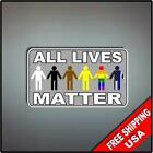Set of 2 ALL Lives Matter BLM WLM 6 Vinyl Decal Stickers Vehicle LE Police
