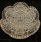BRILLIANT CUT GLASS CANDY DISH SCALLOPED WITH SAWTOOTH EDGES