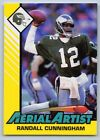 1993  RANDALL CUNNINGHAM - Kenner Starting Lineup Card - PHILA. EAGLES (Yellow)