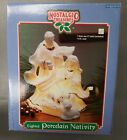 Nostalgic Treasures Lighted Porcelain Nativity ornaments 36c
