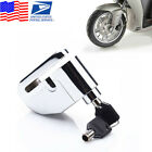 Stainless Steel Motorcycle Bike Rotor Wheel Disc Lock Brake Disk Security Alarm