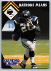 1995  NATRONE MEANS - Kenner Starting Lineup Football Card - SAN DIEGO CHARGERS