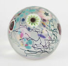Vintage Herb A Thomas HAT Signed Studio Art Glass Millefiori Paperweight 2 7 8