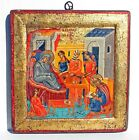 ANTIQUE Orthodox ICON NATIVITY of the MOTHER OF GOD 12 x 12 Wood panel