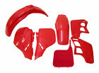 Body Plastic Side Cover Fairing Kit Cherry Fighting Red fits Honda 89 CR 125 250