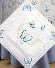 Stamped Embroidery ~ Tobin Blue Butterflies Quilt Blocks (Pack of 6) #T288052