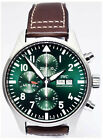 IWC Pilot Steel Green Dial Chronograph Limited Edition Watch Box/Papers IW377726