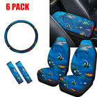 Animal Print Car Front Seat Covers With Seat Beltsarmreststeering Wheel Cover