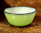 Vintage Fire King Black Rimmed Nesting Mixing Bowl Lime Green