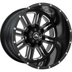 4 20x14 Black Milled Wheel American Offroad Renegade A106 8x65 76