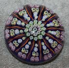 VINTAGE PERTHSHIRE PAPERWEIGHT MILLEFIORI 12 SPOKE TWISTED CANE NICE COLORS