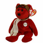 TY Beanie Baby - BEARON the Bear (Red Version) (8.5 inch) - MWMTs