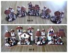 Choose 5 or 4 Sets of Mexican Small Nativity Scene Clay Nativity Christmas Deco