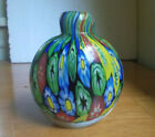 BEAUTIFUL ART GLASS HEAVY PAPERWEIGHT PENCIL HOLDER BOTTLE VASE HAND BLOWN